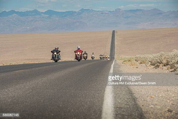 Bikers, Badwater Road, Death Valley, California, USA