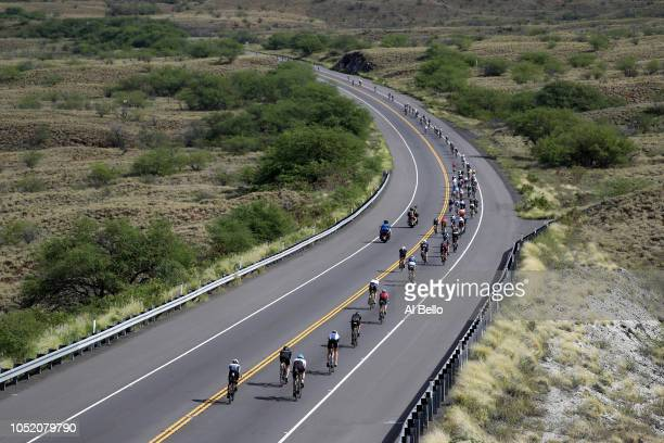 Bikers compete during the IRONMAN World Championships brought to you by Amazon on October 13 2018 in Kailua Kona Hawaii