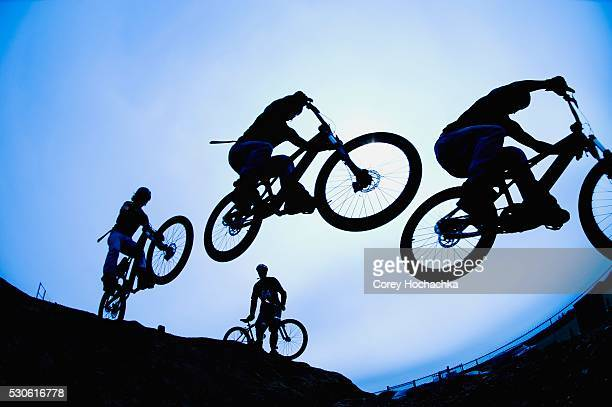 Bikers in Mid-Air