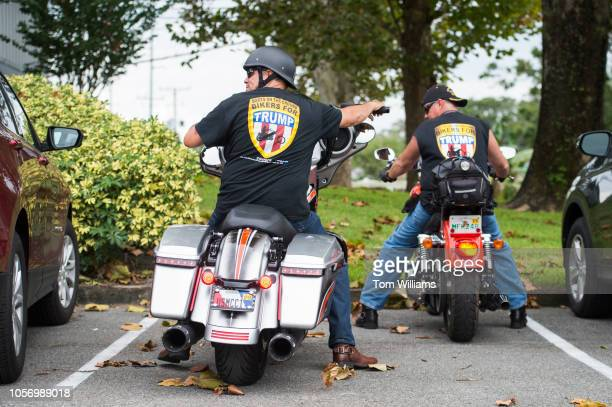 Bikers leave a rally for Florida Gov Rick Scott who is running for the US Senate at Skyline Attractions in Orlando on November 2 2018 Skyline...