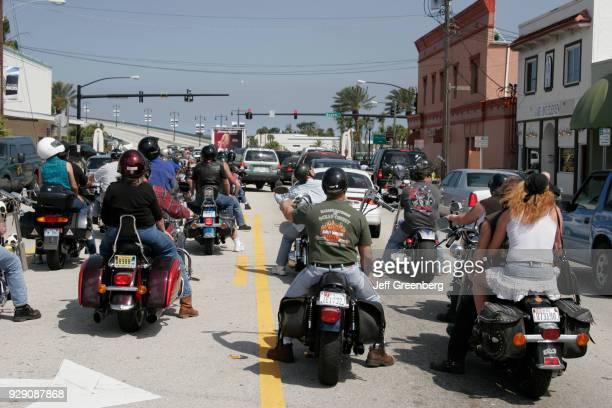 Bikers on the International Speedway at Bike Week Daytona Beach