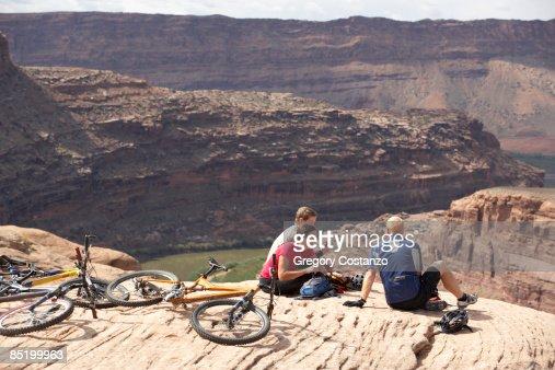 Bikers Resting in Moab, Utah