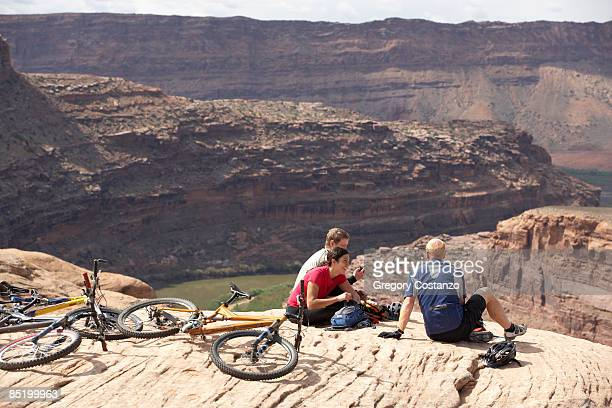 Bikers Resting in Moab, Utah