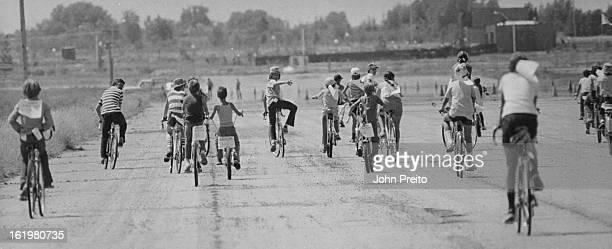 JUL 14 1974 JUL 10 1975 JUL 16 1975 Bikers Ride In BikeAThon To Help Save Colorado's Endangered River Otter Above participants in bikeathon pedal out...