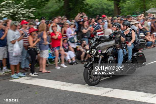 Bikers take part in the Rolling thunder parade part of the Memorial weekend honouring war veterans in Washington on May 26 2019 Thousands of bikers...