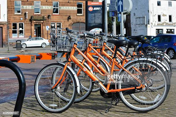 bikes for hire to members of the public - dumfries stock pictures, royalty-free photos & images