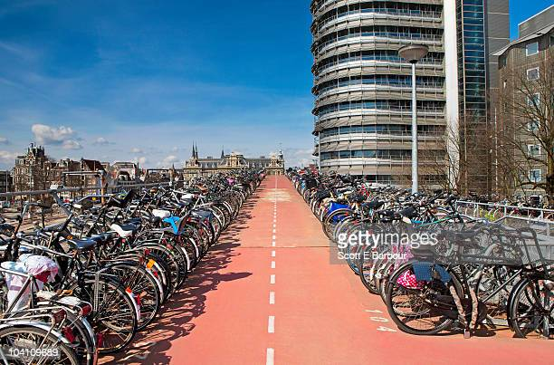Bikes parked at Central Station, Amsterdam