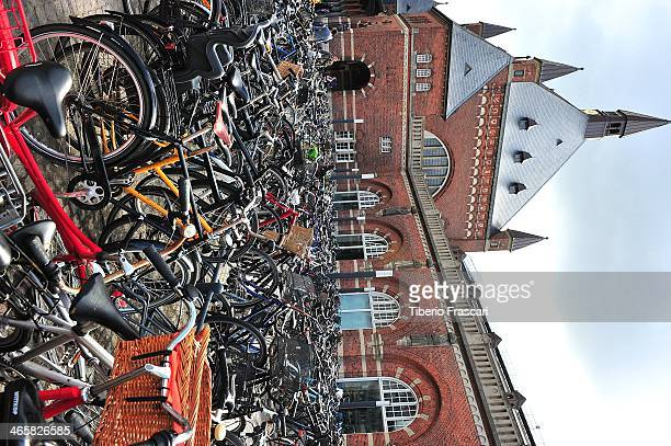 CONTENT] bikes parked near the Rrailway station Copenhagen Denmark