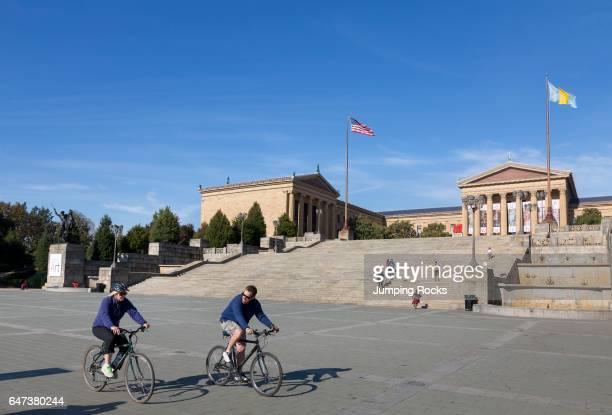 Biking in front of Philadelphia Museum of Art Philadelphia Pennsylvania
