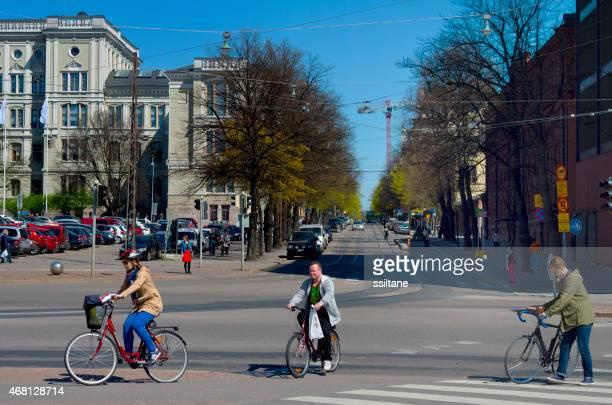 サイクリングフィンランドのヘルシンキにおける