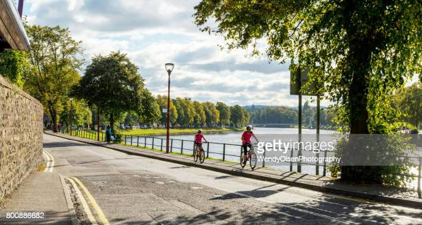 biking riding in inverness, scotland - inverness stock photos and pictures