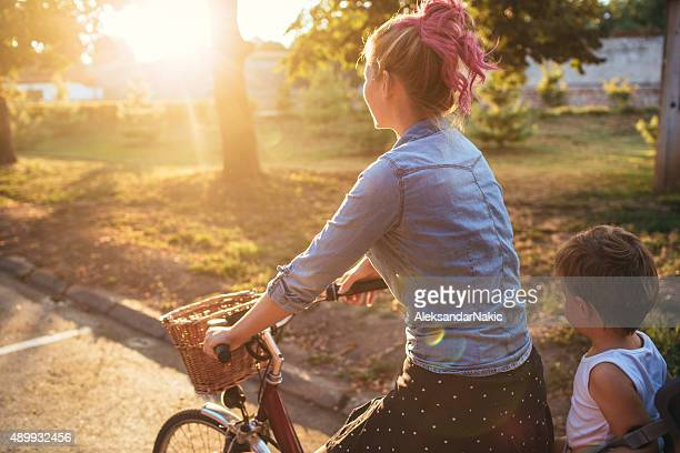 Radfahren zusammen