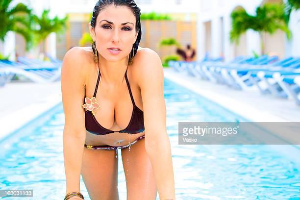 bikini-babe - hot babe stock-fotos und bilder