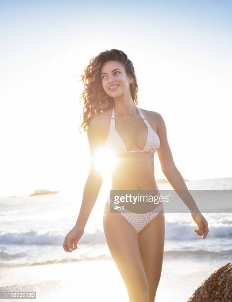 bikini beauty at the beach, clifton, cape town, south africa - sexy figures stock pictures, royalty-free photos & images