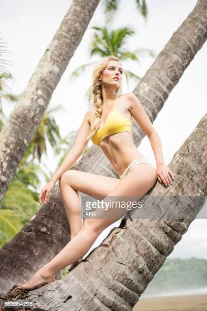 Bikini Fasion Beauty at a secluded Beach on Vacation, Costa Rica