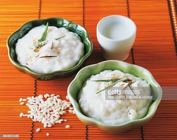 Biko sticky rice cake with caramelised coconut milk Philippines