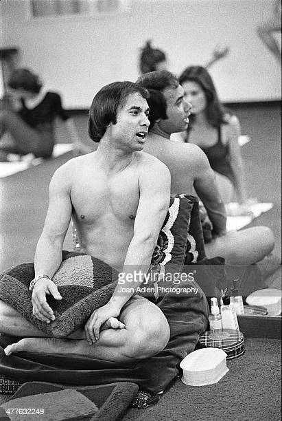 Bikram Choudhury teacher and founder of Bikram Yoga during a yoga class at his studio in Beverly Hills California