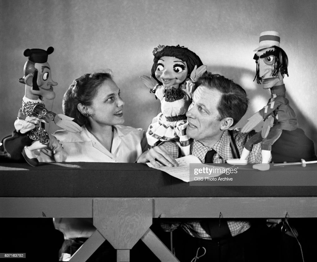 Bil Baird and Cora Baird with their puppets. They rehearse for the Fred Waring television show. They create the action for Bizets opera Carmen while Warings orchestra (the Pennsylvanians) to provide the music. Program originally broadcast April 26, 1953.