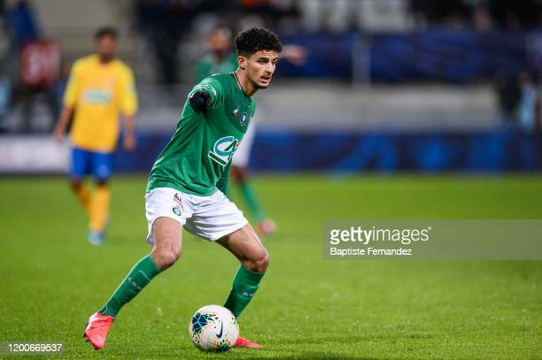 Bilal BENKHEDIM of Saint Etienne during the French Cup Soccer match between Epinal and SaintEtienne on February 13 2020 at Stade Marcel Picot in...