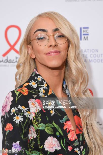 Bilal Hassani attends Sidaction Gala Dinner 2020 At Pavillon Cambon on January 23 2020 in Paris France