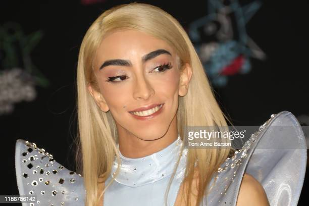 Bilal Hassani attends the 21st NRJ Music Awards At Palais des Festivals on November 09 2019 in Cannes France