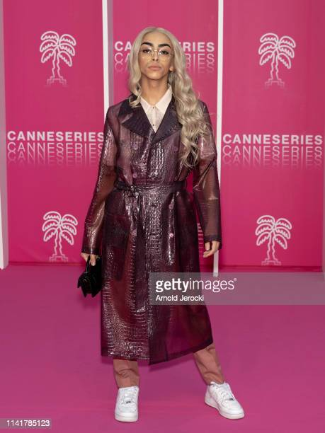 Bilal Hassani attends the 2nd Canneseries International Series Festival Closing Ceremony on April 10 2019 in Cannes France