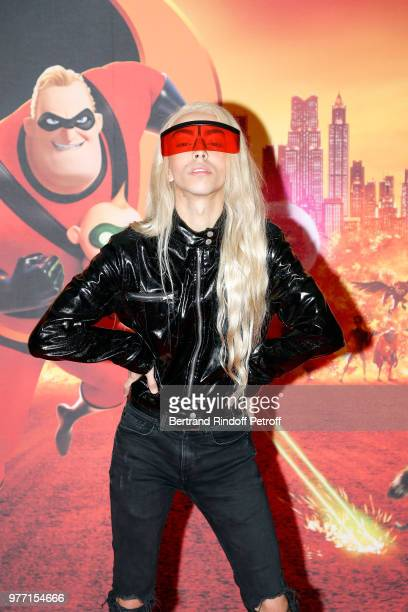 Bilal Hassani attends the Les Indestructibles 2 Paris Special Screening at Le Grand Rex on June 17 2018 in Paris France