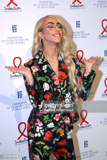 Bilal Hassani attends the Sidaction Gala Dinner 2020 at Pavillon Cambon on January 23 2020 in Paris France