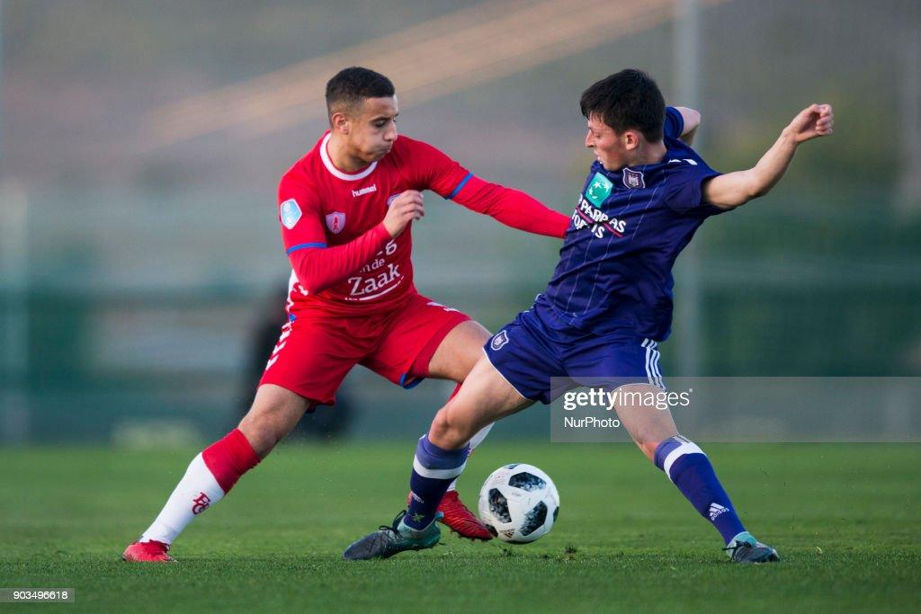 Bilal Ould-Chikh, Amrani during the friendly match between FC Utrecht vs. RSC Anderlecht at La Manga Club, Murcia, SPAIN. 10th January of 2018.