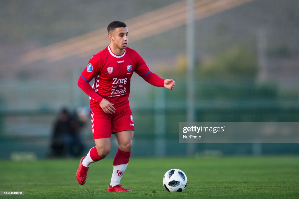 Bilal Ould-Chikh during the friendly match between FC Utrecht vs. RSC Anderlecht at La Manga Club, Murcia, SPAIN. 10th January of 2018.