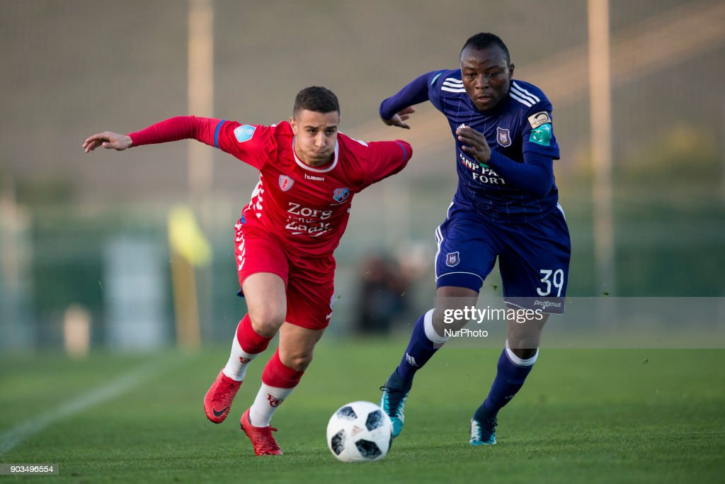 Bilal Ould-Chikh, Vayembe during the friendly match between FC Utrecht vs. RSC Anderlecht at La Manga Club, Murcia, SPAIN. 10th January of 2018.