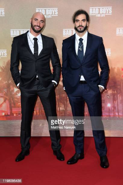"""Bilall Fallah and Adil El Arbi attend the Berlin premiere of the movie """"Bad Boys For Life"""" at Zoo Palast on January 07, 2020 in Berlin, Germany."""