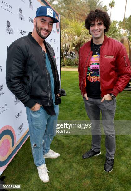 Bilall Fallah and Adil El Arbi attend Variety's Creative Impact Awards and 10 Directors to Watch Brunch Red Carpet at the 29th Annual Palm Springs...