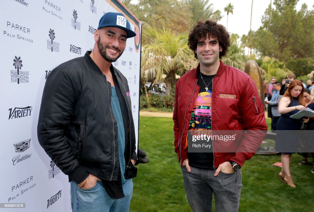 Bilall Fallah (L) and Adil El Arbi attend Variety's Creative Impact Awards and 10 Directors to Watch Brunch Red Carpet at the 29th Annual Palm Springs International Film Festival at Parker Palm Springs on January 3, 2018 in Palm Springs, California.