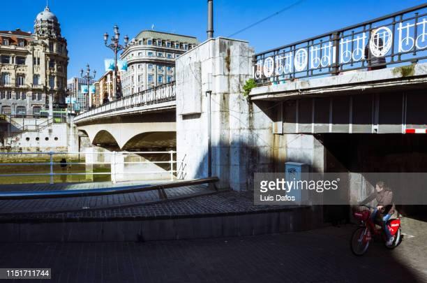 bilbao, arenal bridge - dafos stock photos and pictures