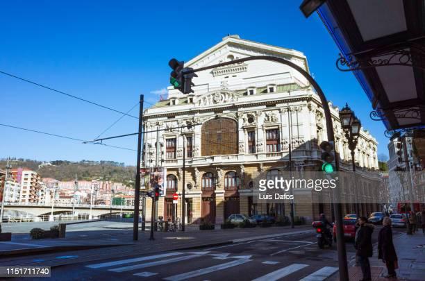 bilbao, arriaga theater - dafos stock photos and pictures