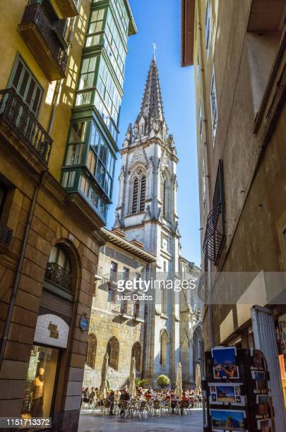 bilbao cathedral in the old town - dafos stock photos and pictures