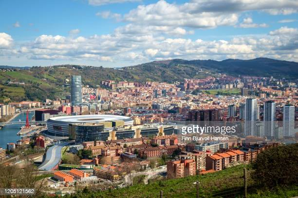 bilbao photographed from abowe at daytime - finn bjurvoll stock pictures, royalty-free photos & images
