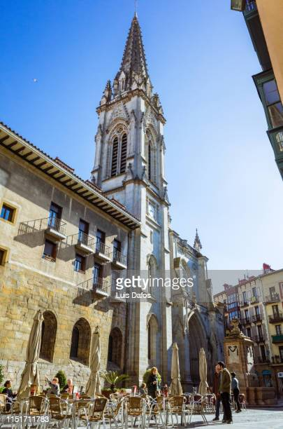 bilbao, santiago cathedral - dafos stock photos and pictures