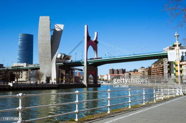 bilbao skyline - dafos stock photos and pictures