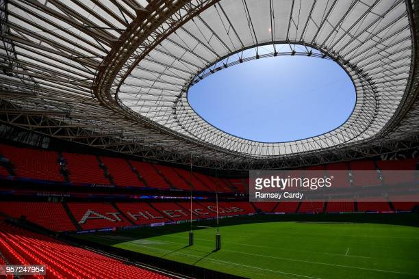 Bilbao Spain 11 May 2018 A general view of the San Mames Stadium ahead of the Leinster Rugby captains run at the San Mames Stadium in Bilbao Spain