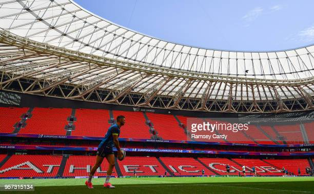 Bilbao Spain 11 May 2018 Rob Kearney during the Leinster Rugby captains run at the San Mames Stadium in Bilbao Spain