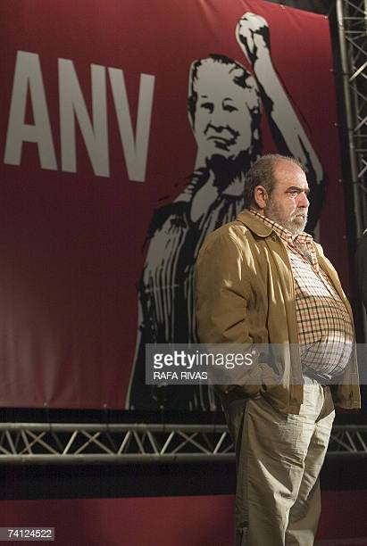 Action Nationalist Basque party President and General Secretary Kepa Bereziartua speaks during local election campaigning in the northern Spanish...