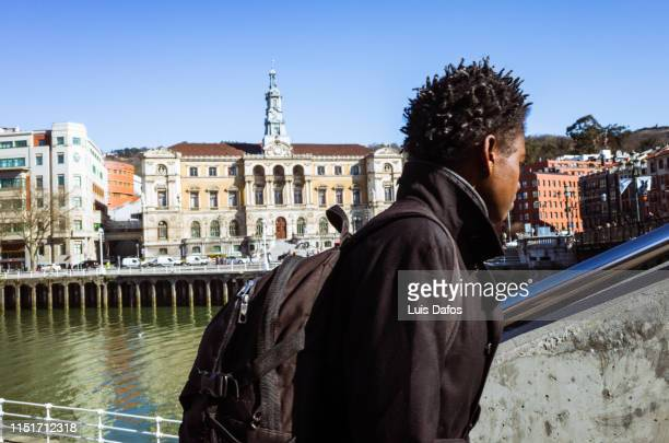 bilbao, street scene - dafos stock photos and pictures