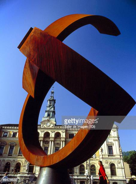 Bilbao town hall and sculpture by Jorge Oteiza Photo by Taller de Imagen /Cover/Getty Images