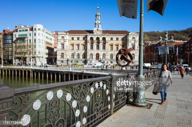 bilbao town hall - dafos stock photos and pictures