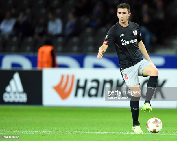 Bilbao's Aymeric Laporte during the Europa League soccer match between Hertha BSC and Athletic Bilbao group phase group J 1 match day in the Olympia...