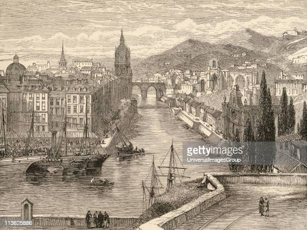 BilbaoSpain From the book Spanish Pictures by the Rev Samuel Manning published 1870