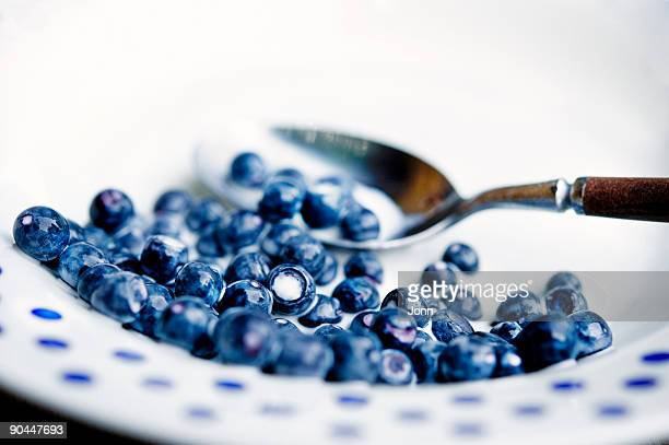 Bilberry and milk close-up Sweden.
