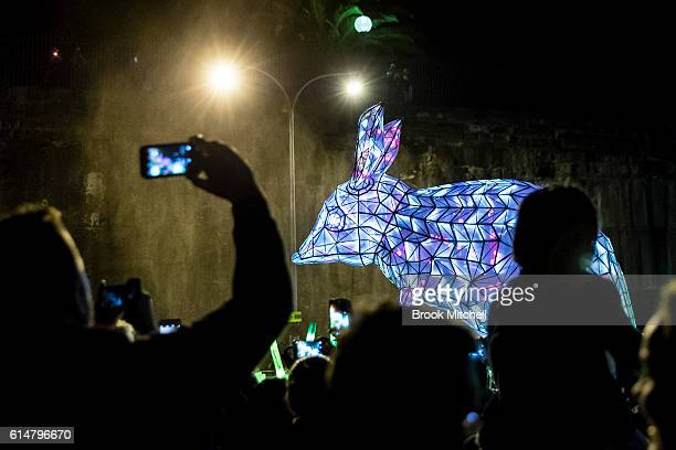 Bilby Lantern during the parade celebrating 100 years of Taronga Zoo on October 15 2016 in Sydney Australia The parade will recreate the historical...